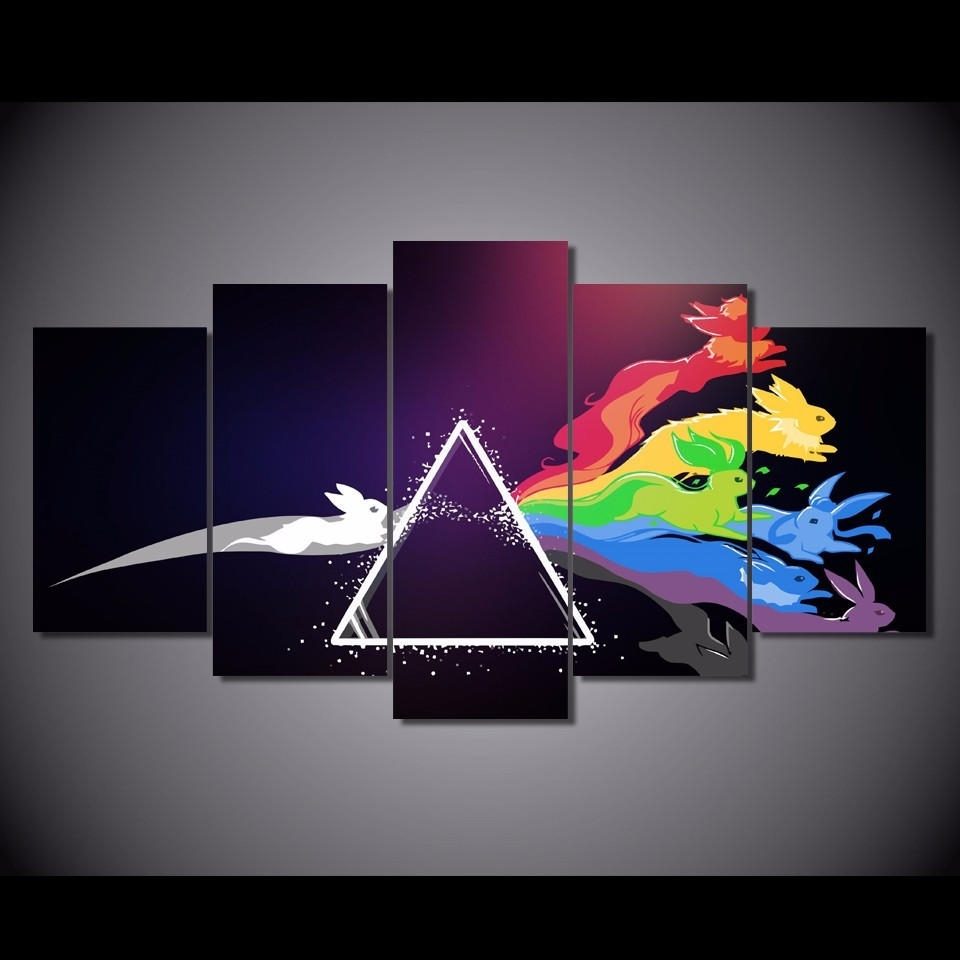 Eevee Prism Limited Edition 5 Piece Wall From Royal Crown Pro Throughout Newest Limited Edition Canvas Wall Art (View 15 of 20)