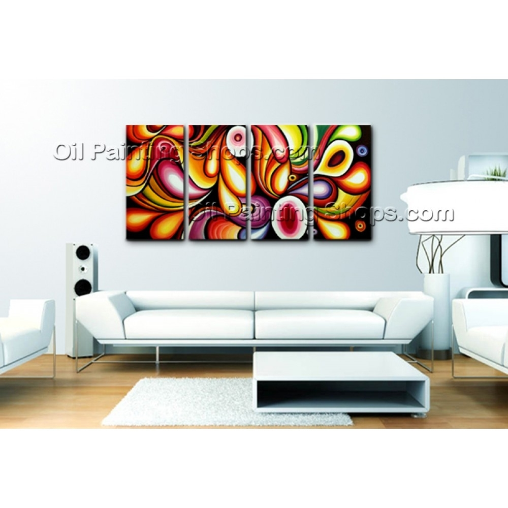 Extra Large Canvas Wall Art Rainbow Colorful Abstract Painting With Regard To Most Recent Extra Large Canvas Abstract Wall Art (View 5 of 20)