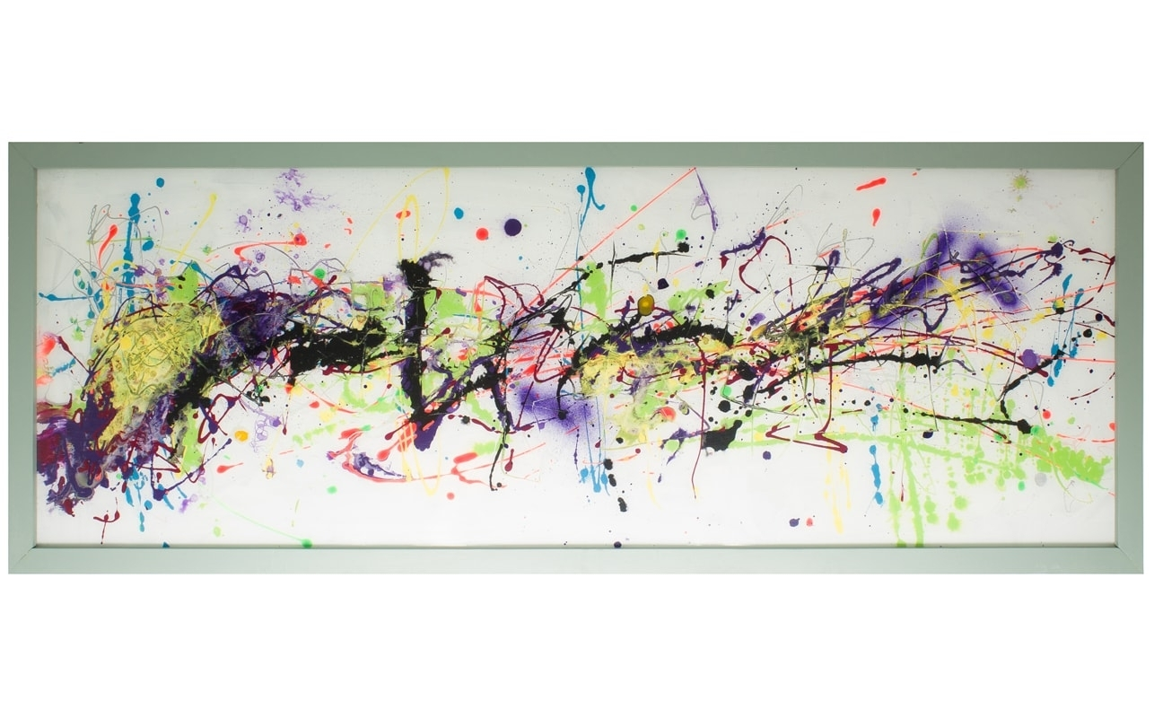 Extra Large Glass Wall Artcraig Anthony – Reformations In Latest Horizontal Abstract Wall Art (View 7 of 20)