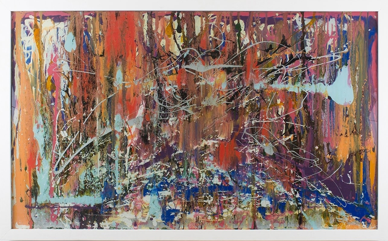 Extra Large Glass Wall Artcraig Anthony – Reformations In Most Current Large Abstract Wall Art (Gallery 14 of 20)