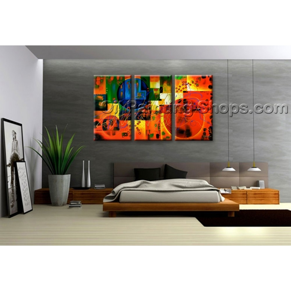 Extra Large Wall Art Colorful Abstract Oil Painting On Canvas In Most Popular Huge Abstract Wall Art (View 4 of 20)
