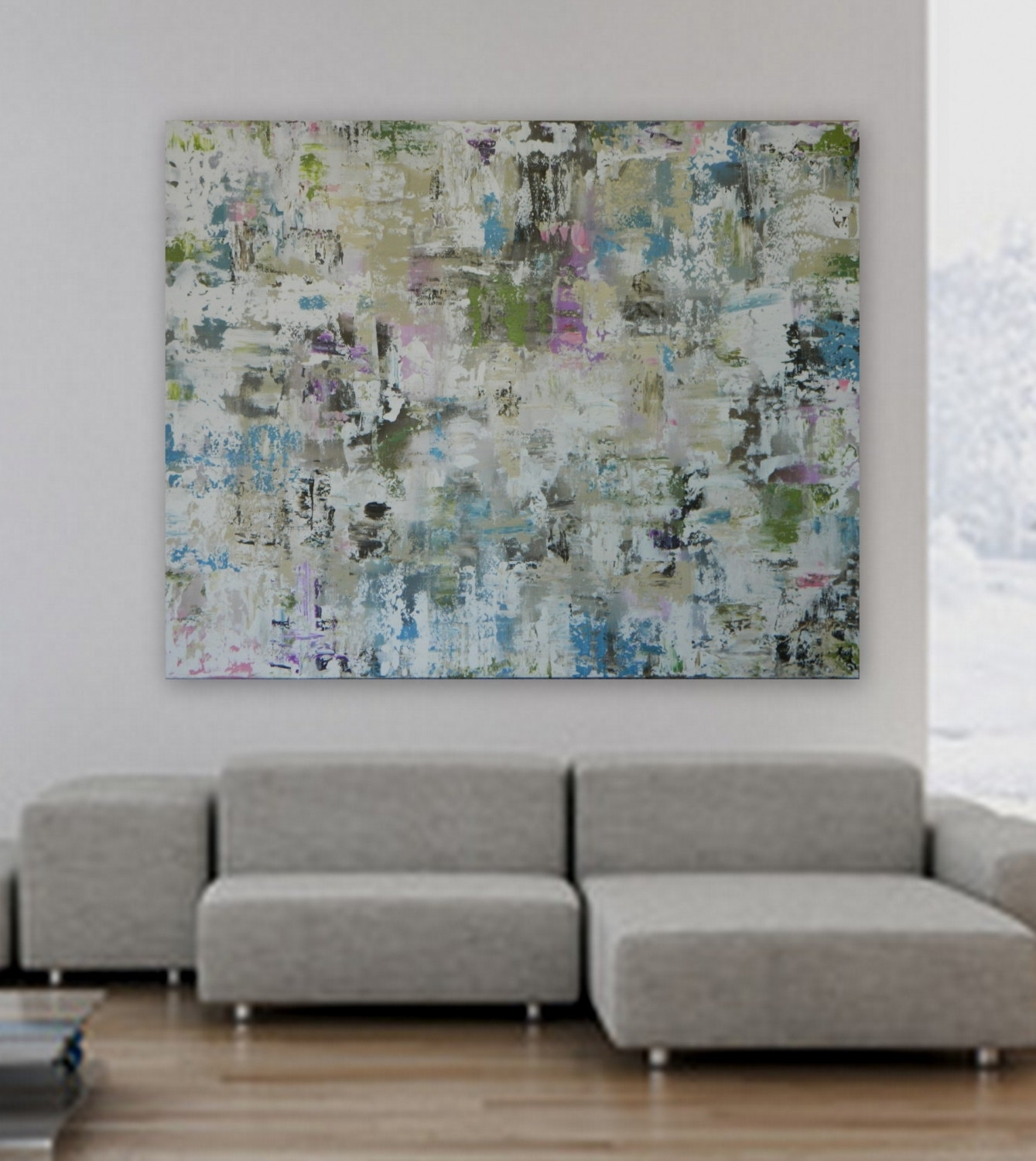 """Extra Large Xl Huge 48"""" X 60"""" Custom Paintingmarcy Chapman Throughout Recent Modern Abstract Huge Wall Art (Gallery 6 of 20)"""