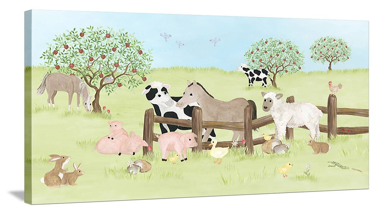 Farm Animal Friends Canvas Wall Art, Farm Animal Wall Art In Most Popular Farmanimal Wall Art (View 8 of 20)