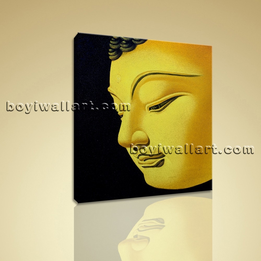 Feng Shui Painting Abstract Buddha Head Peaceful Home Decor Wall Within Most Recently Released Abstract Buddha Wall Art (Gallery 14 of 20)