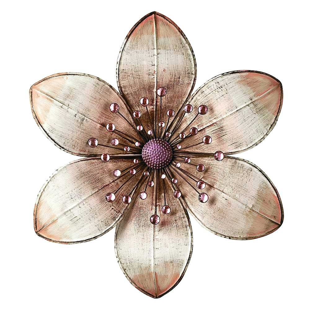 Flower Metal Wall Art Decor Blue Murals Ideas Decals Hobby Lobby With Regard To Best And Newest Abstract Flower Metal Wall Art (View 2 of 20)