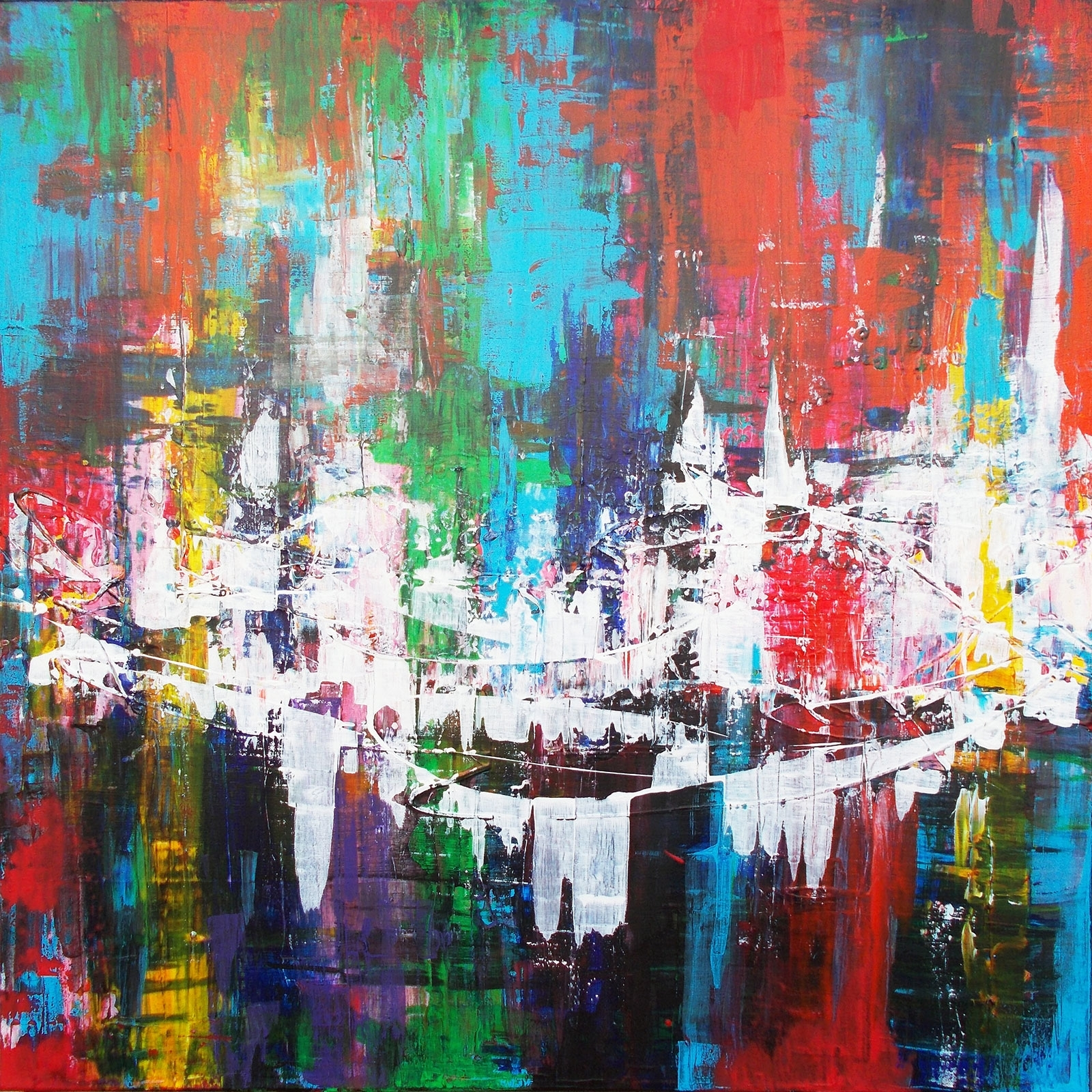 Fortitude – A Warm Blend Of Colour With Bold White Contrasts Intended For Newest Bold Abstract Wall Art (Gallery 16 of 20)