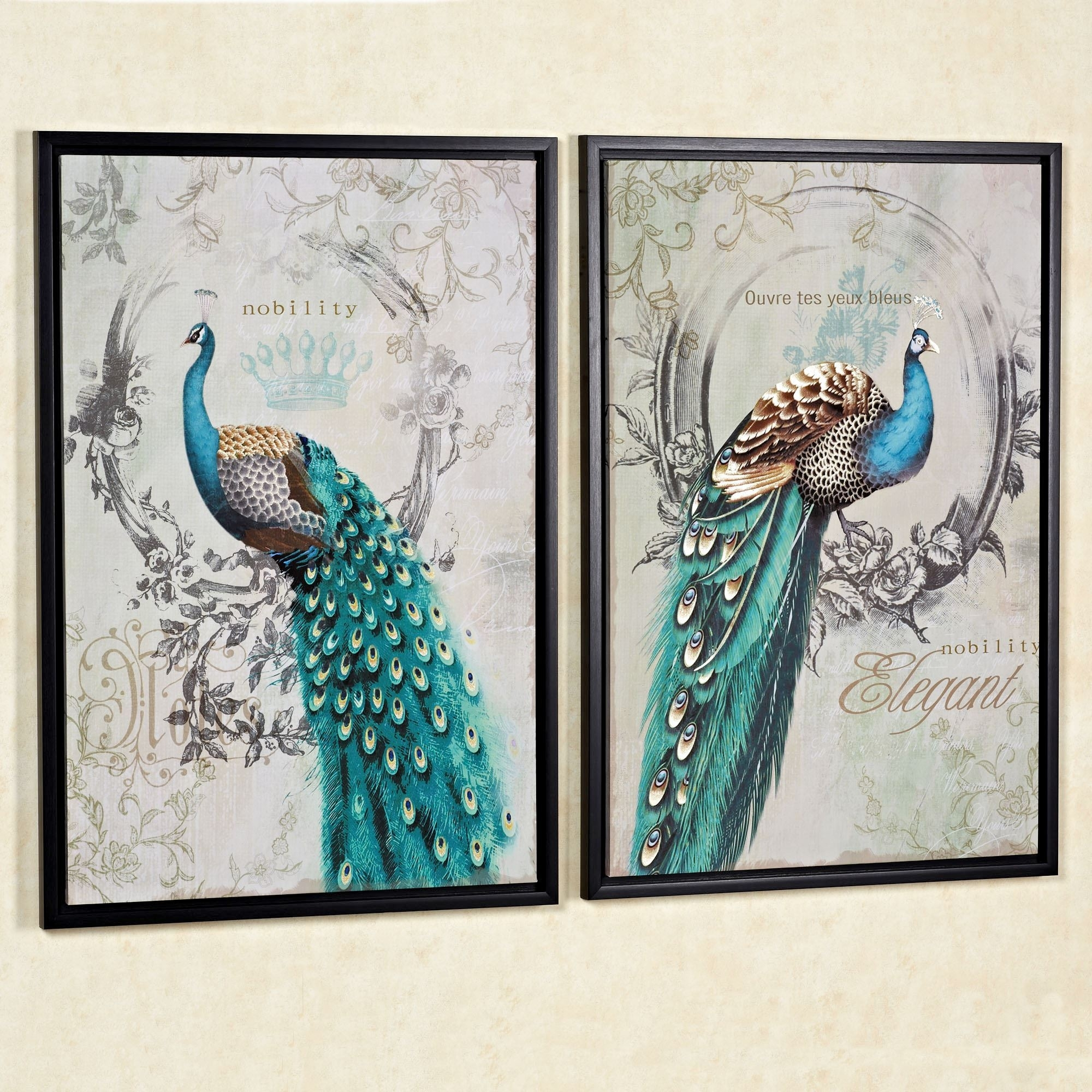 Framed Artwork For Bathroom, Pier One Peacock Wall Art Peacock Regarding 2017 Pier One Abstract Wall Art (View 10 of 20)