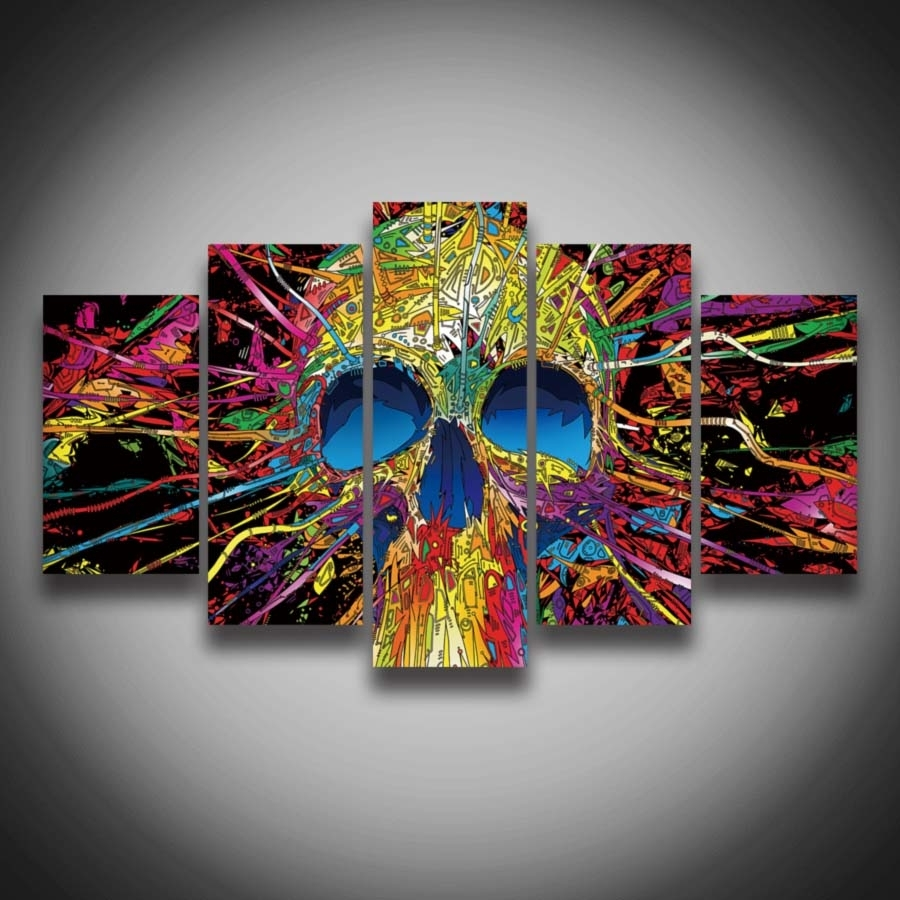 Framed Printed Modern Style Skull Designs Picture Painting 5 Inside Newest Ottawa Abstract Wall Art (View 9 of 20)