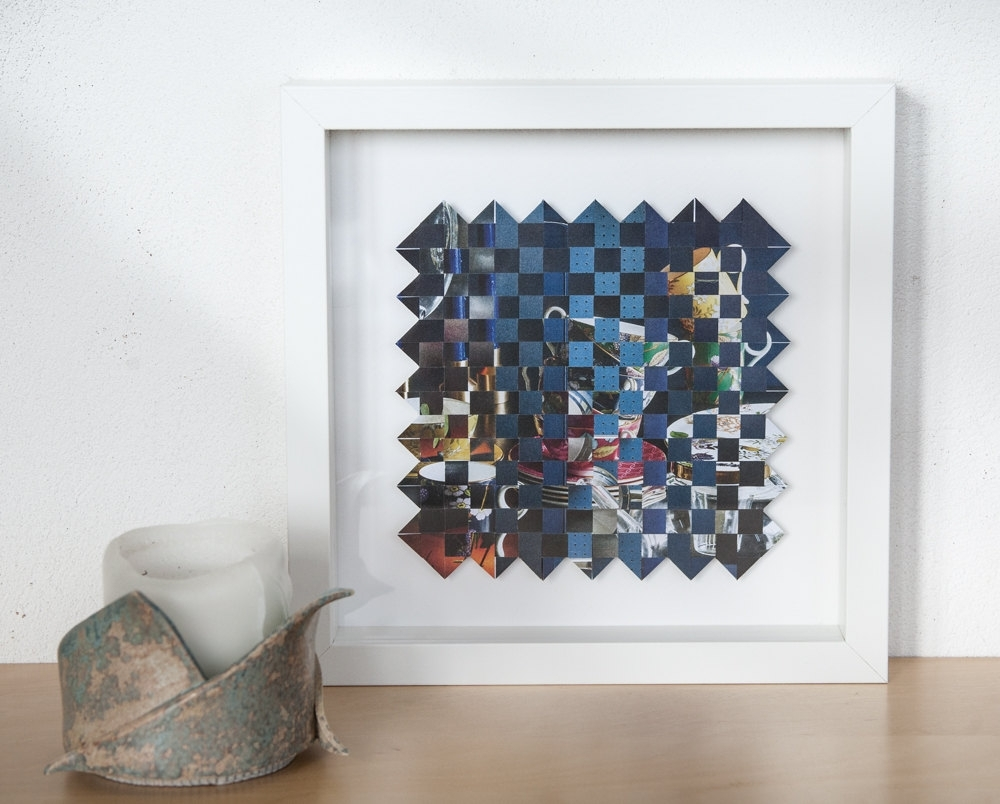 Framed Wall Art, Abstract Art, Paper Weaving Art, Original Artwork Regarding Newest Framed Abstract Wall Art (View 5 of 20)