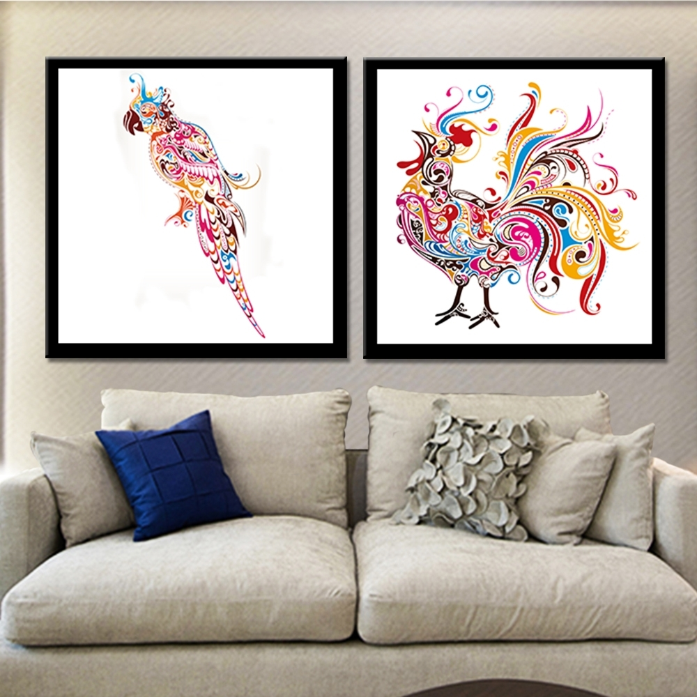 Frameless Cock High Heels Canvas Painting Abstract Wall Art For Most Recently Released Abstract Wall Art Posters (View 13 of 20)