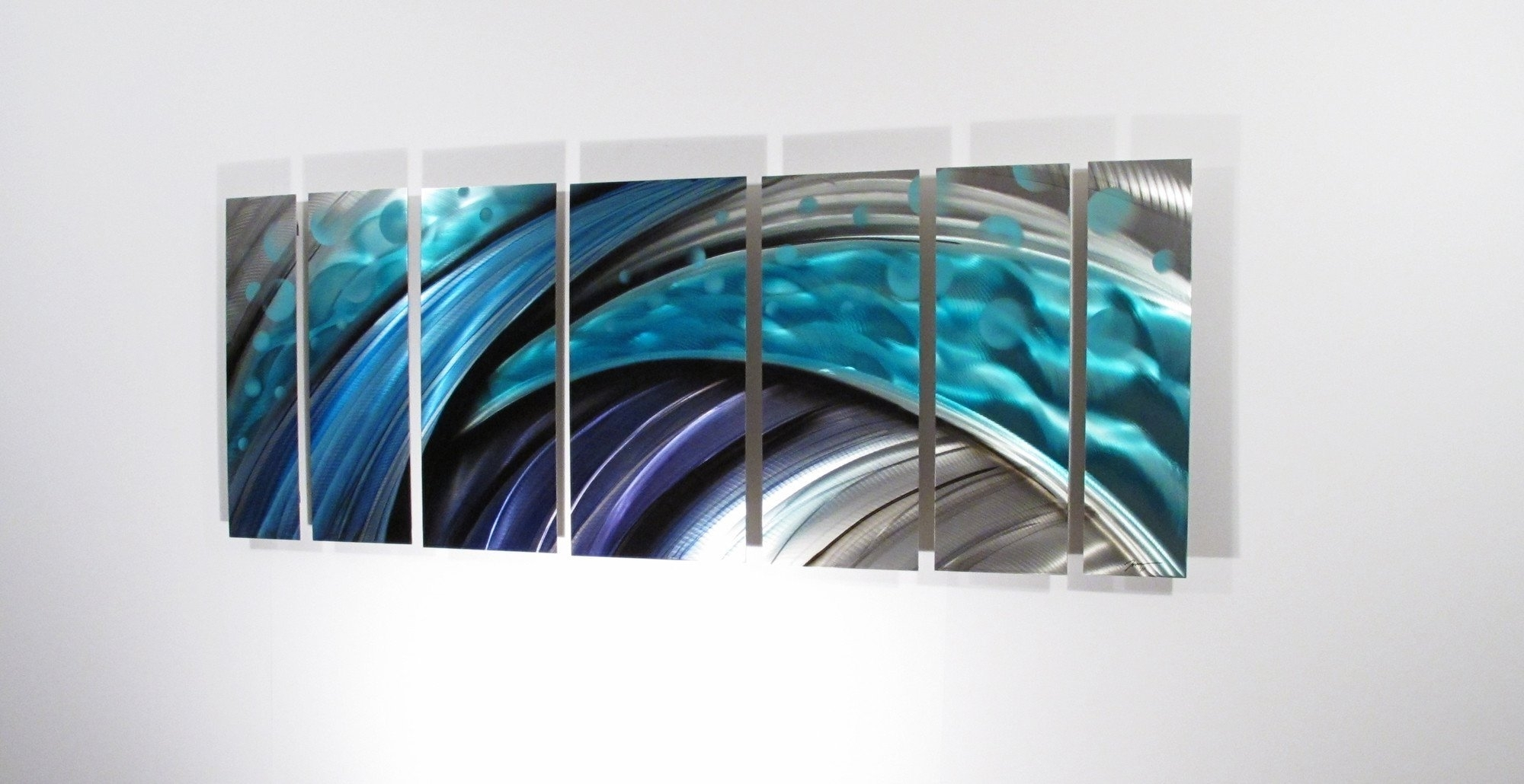 Fun Metal Abstract Wall Art Circle Bubble Wave Shaped Find This With Newest Glass Abstract Wall Art (View 13 of 20)