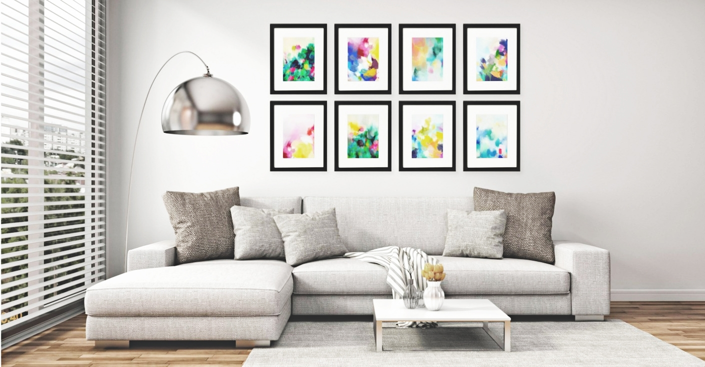 Gallery Wall Free Printables: Download All 8 Colourful, Abstract For Current Colourful Abstract Wall Art (Gallery 19 of 20)