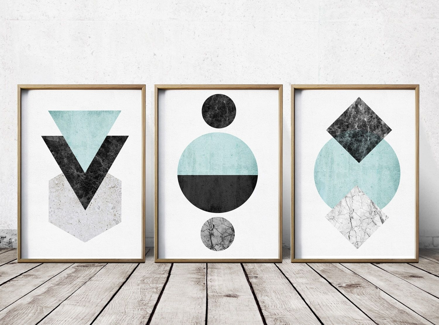 Gallery Wall Print Set Art Prints – Abstract Art Prints Intended For Most Popular Abstract Wall Art Prints (View 9 of 21)