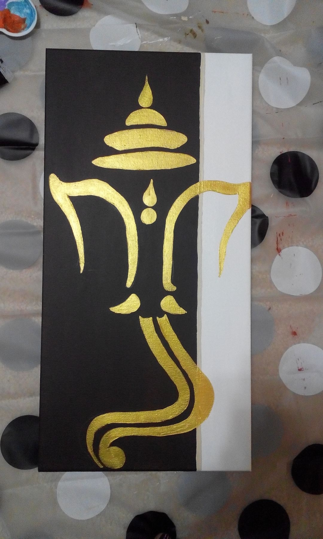 Ganesha Painting … | Pinteres… For 2017 Abstract Ganesha Wall Art (View 12 of 20)