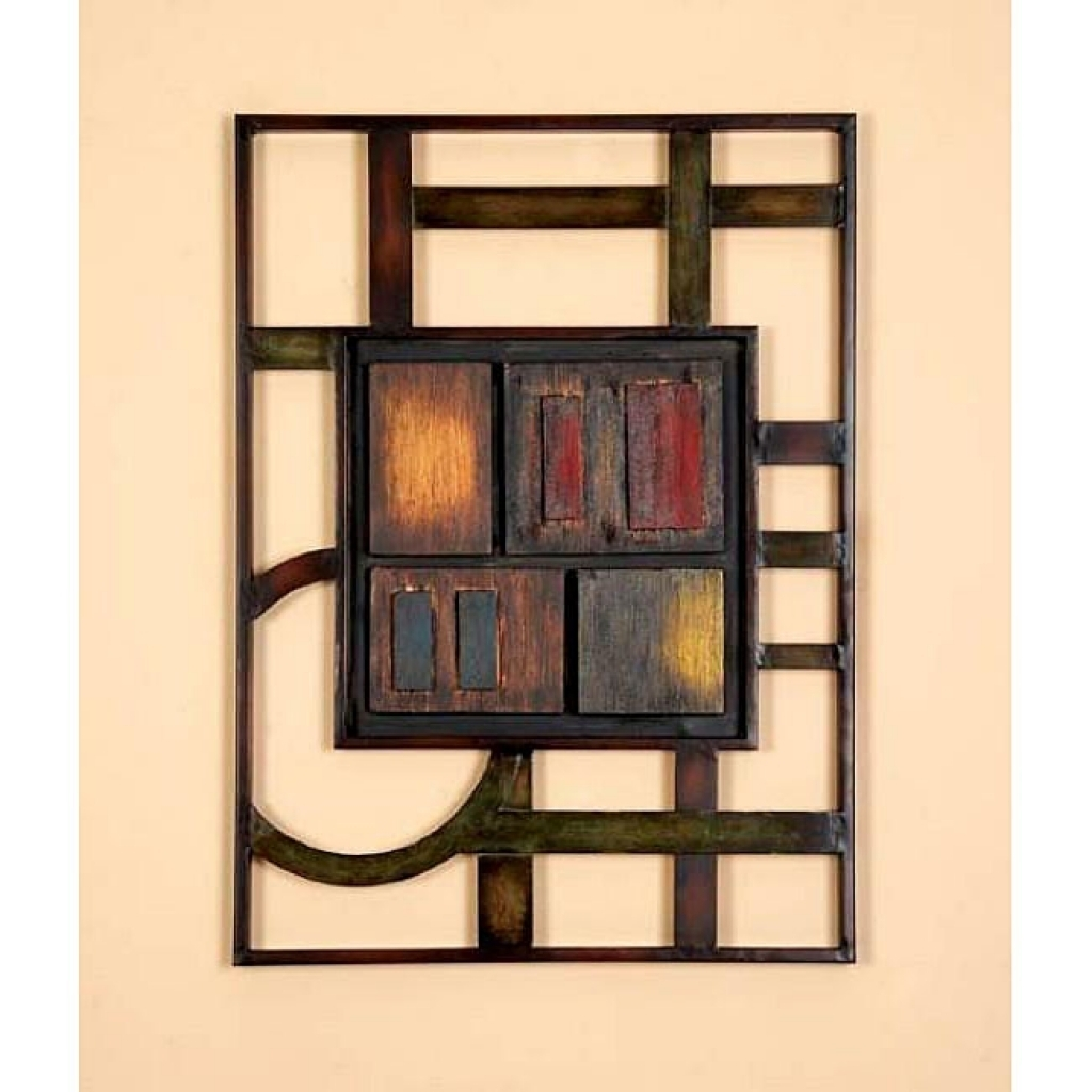 Geometric Modern Metal Abstract Wall Art 12732391 Overstock Intended For Most Current Abstract Geometric Metal Wall Art (View 9 of 20)