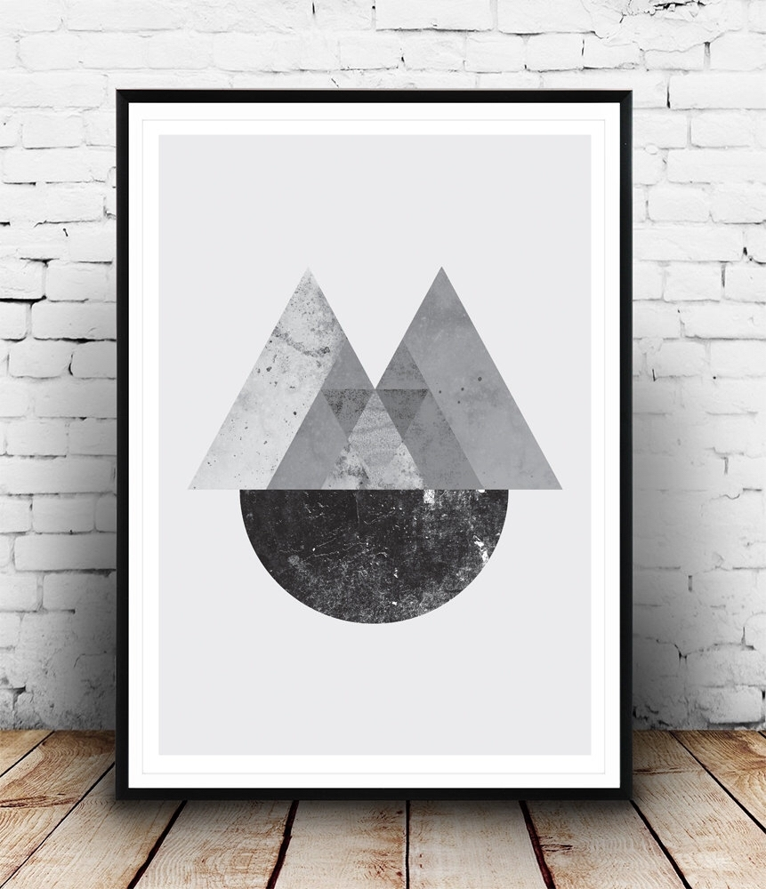 Geometric Print, Abstract Wall Art, Minimalist Poster, Black And For Latest Abstract Wall Art Posters (View 16 of 20)