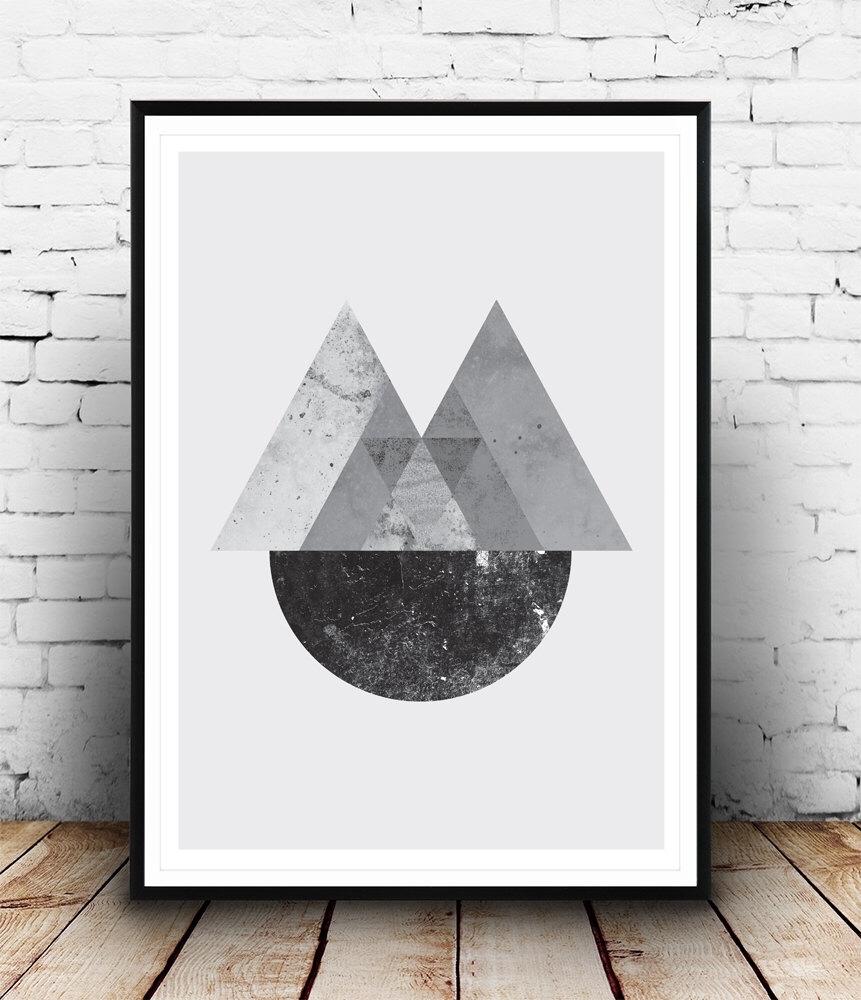 Geometric Print, Abstract Wall Art, Minimalist Poster, Black And For Latest Abstract Wall Art Posters (View 13 of 20)