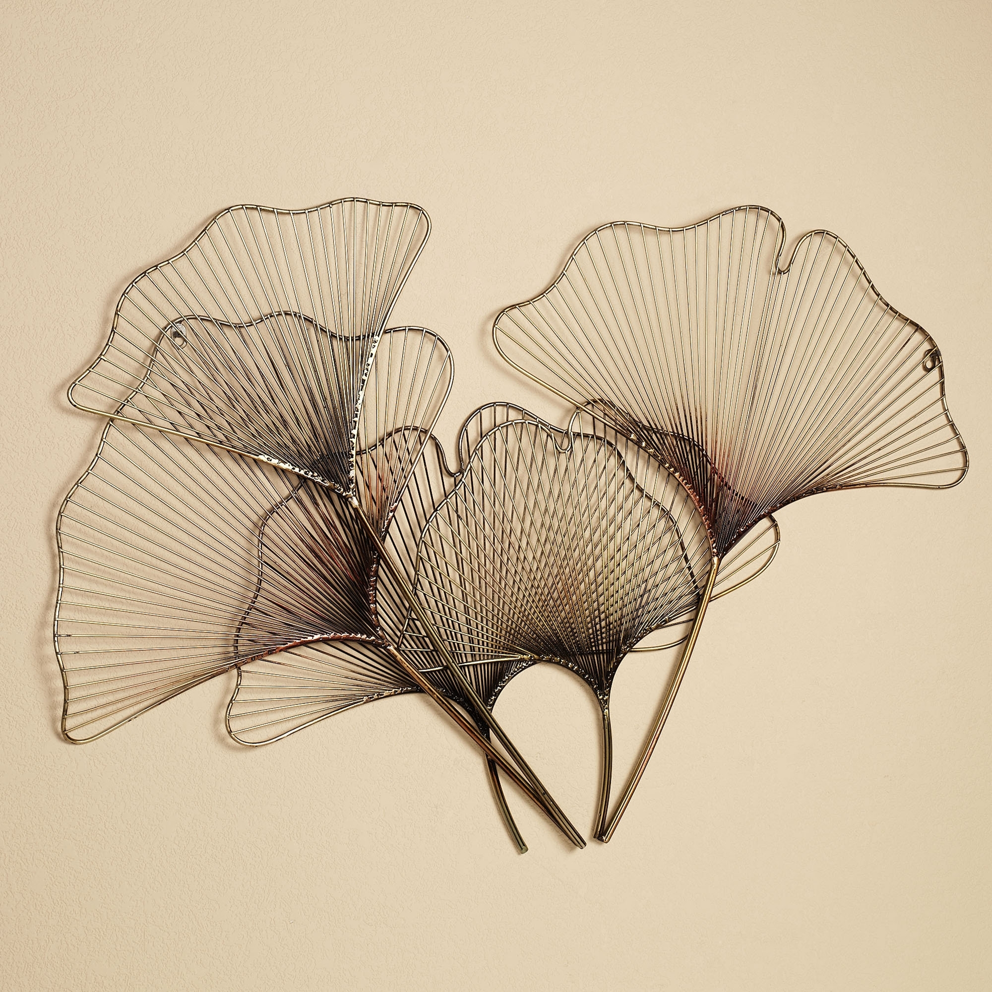 Ginkgo Breeze Metal Wall Sculpture | Metal Wall Sculpture, Wall With Recent Abstract Leaf Metal Wall Art (View 5 of 20)