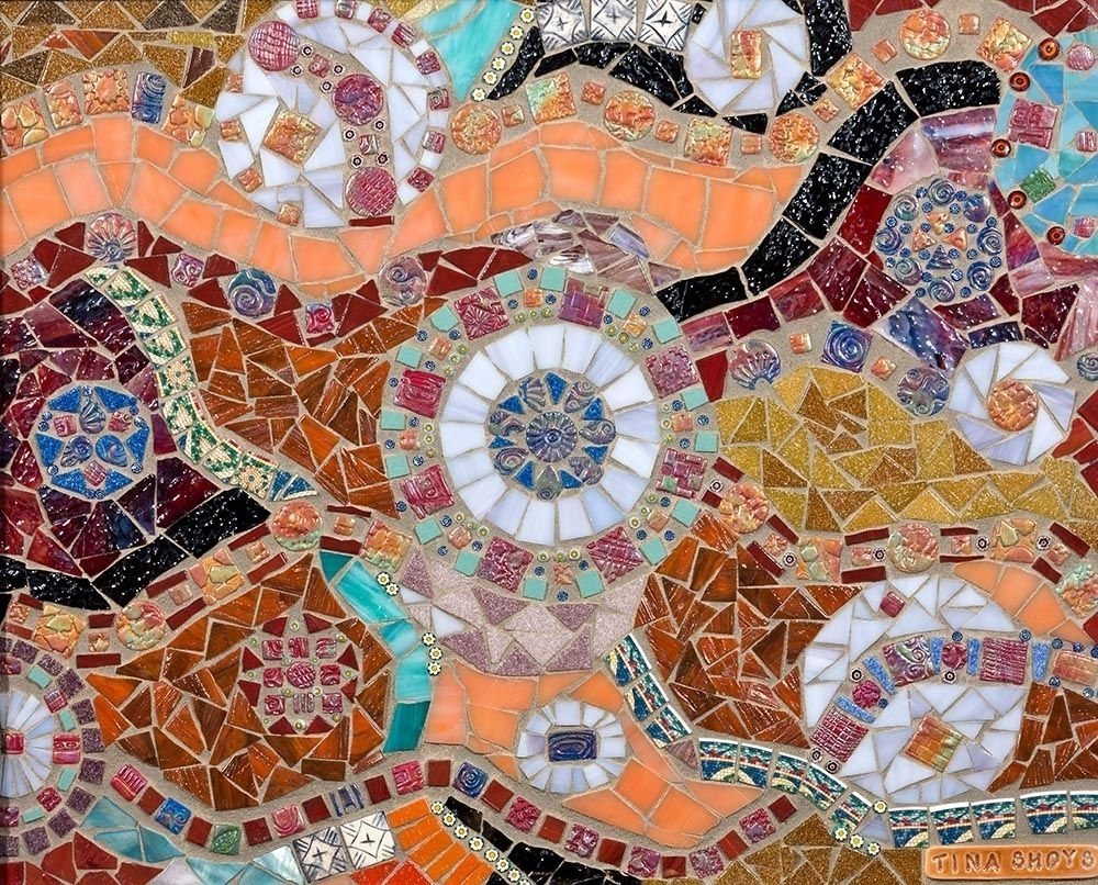Hand Made Mosaic Wall Arttina Shoys, Mosaic Artist Throughout Best And Newest Abstract Mosaic Wall Art (View 7 of 20)