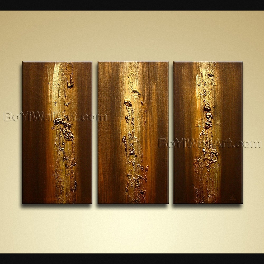 Hand Painted Modern Abstract Painting On Canvas Heavy Textured Intended For 2018 Modern Abstract Wall Art Painting (View 9 of 20)
