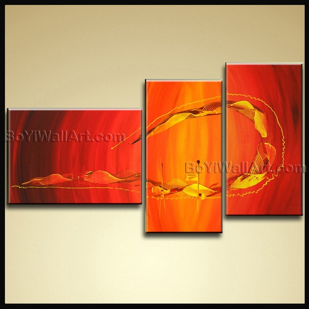 Hand Painted Oil Painting On Canvas Modern Abstract Wall Art Throughout Most Popular Modern Abstract Wall Art (View 18 of 20)