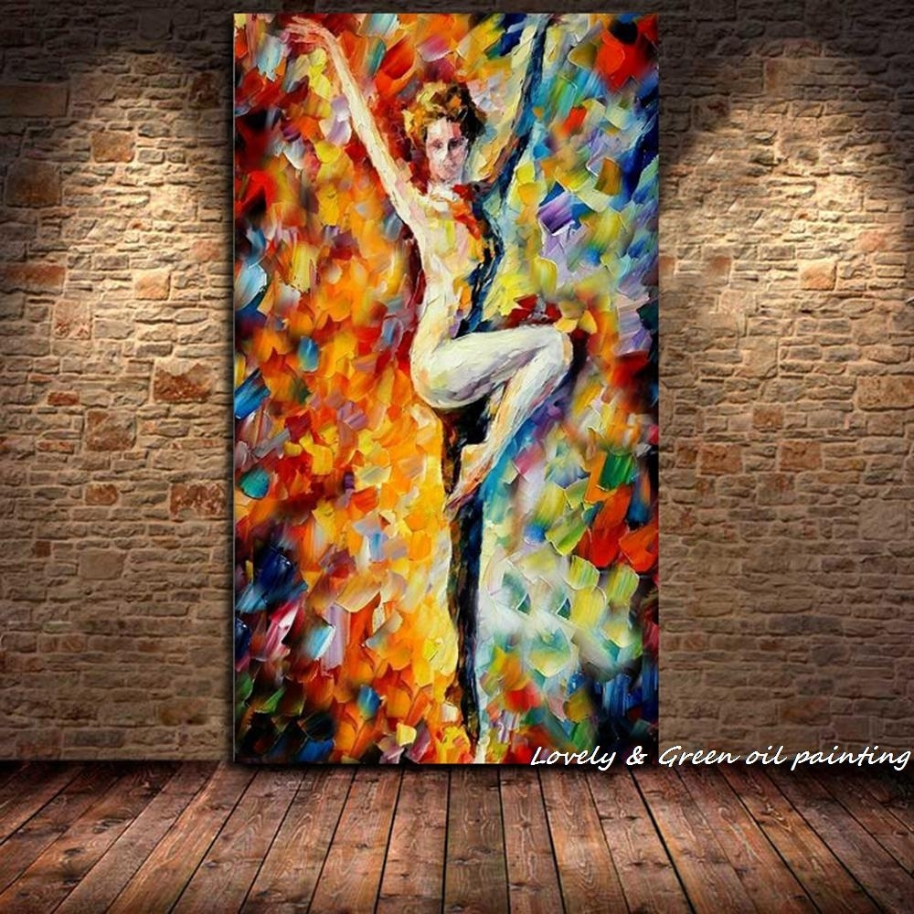 Handpainted Palette Knife Sexy Nude Woman Oil Painting Naked Body Inside Most Popular Abstract Body Wall Art (Gallery 5 of 20)