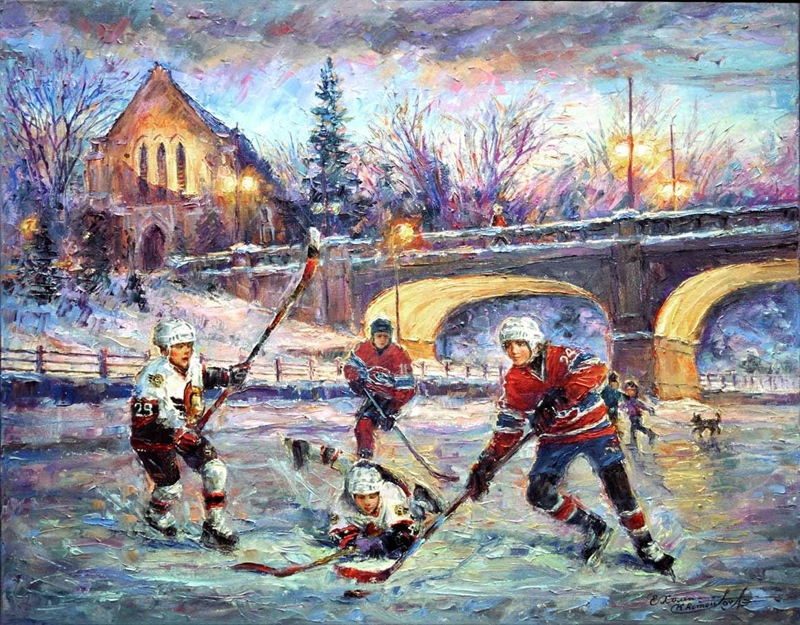 Hard Ice – Ottawa Senators Hockey & Montreal Canadians – Art Regarding Most Current Ottawa Abstract Wall Art (View 10 of 20)