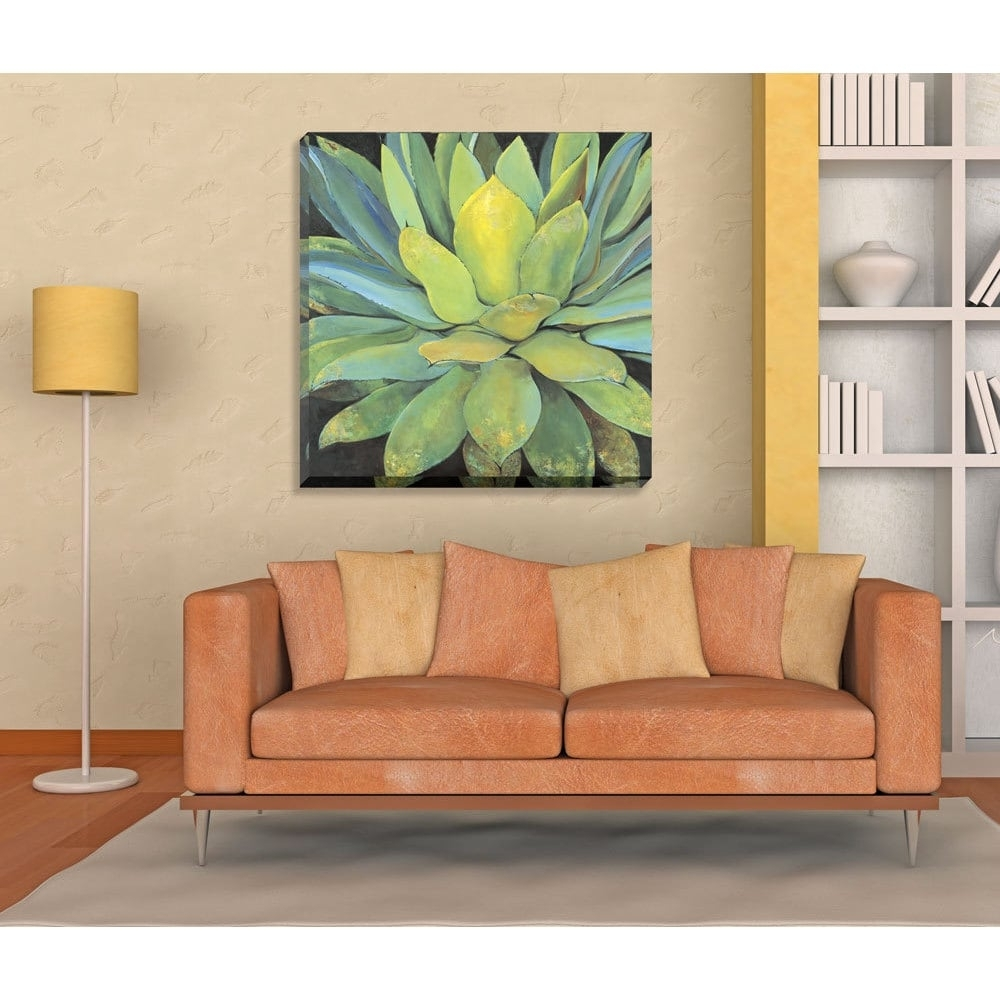 Havenside Home Portfolio Canvas Decor 'agave' Large Printed Canvas Intended For Most Up To Date Overstock Abstract Wall Art (View 7 of 20)