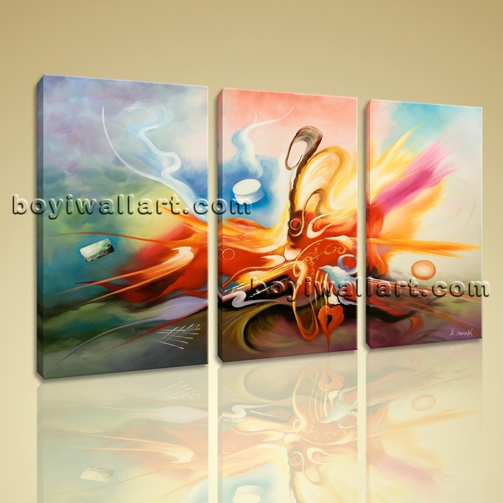 Hd Giclee Prints On Stretched Canvas Modern Abstract Wall Art Home With Regard To Most Recently Released Modern Abstract Wall Art Painting (View 17 of 20)