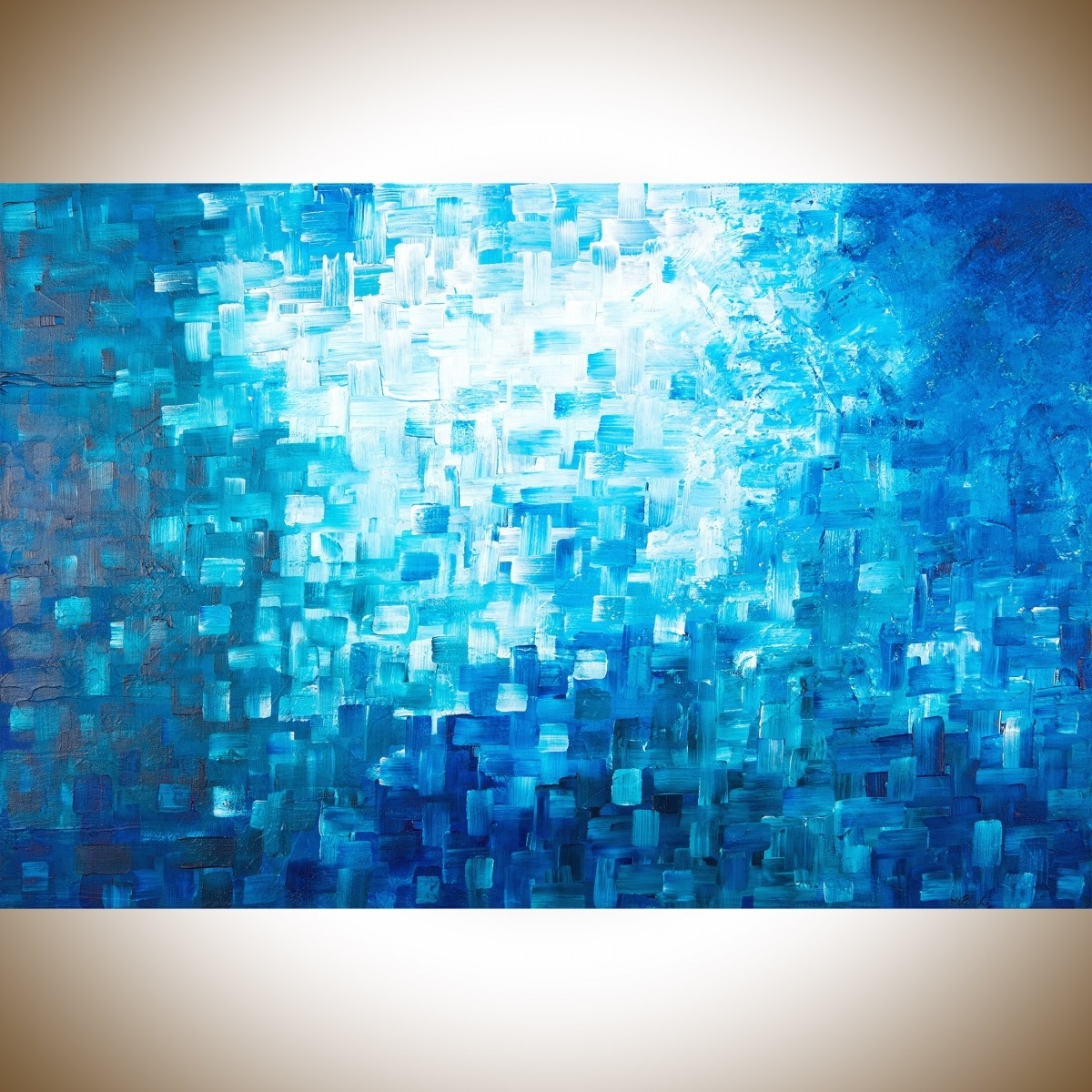 "Healingqiqigallery 36""x24"" Stretched Canvas Original Modern Inside Most Recent Abstract Wall Art For Office (View 3 of 20)"