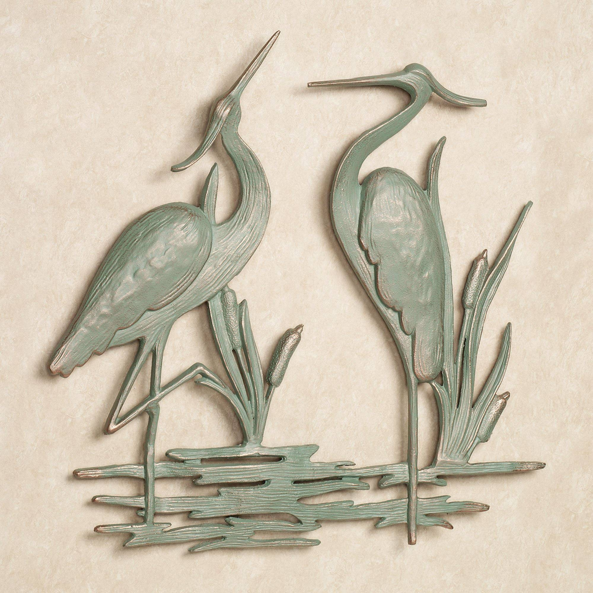 Heron Indoor Outdoor Metal Wall Art With 2018 Outdoor Coastal Wall Art (Gallery 10 of 20)