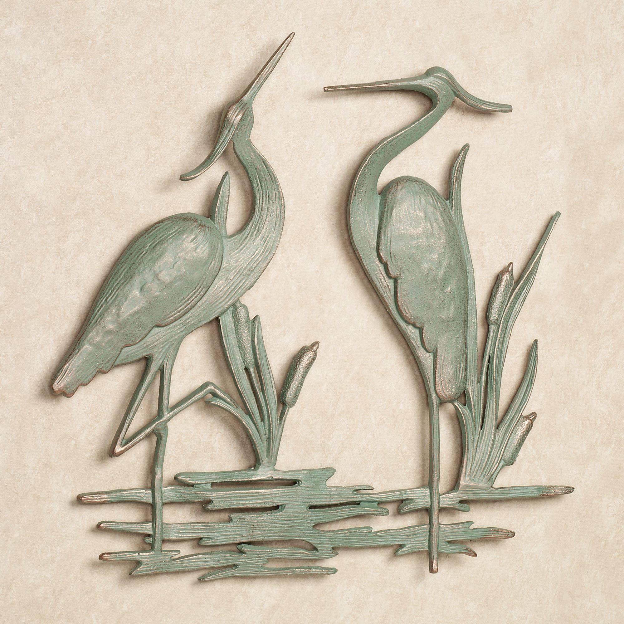 Heron Indoor Outdoor Metal Wall Art With Newest MetalCoastal Wall Art (View 10 of 20)