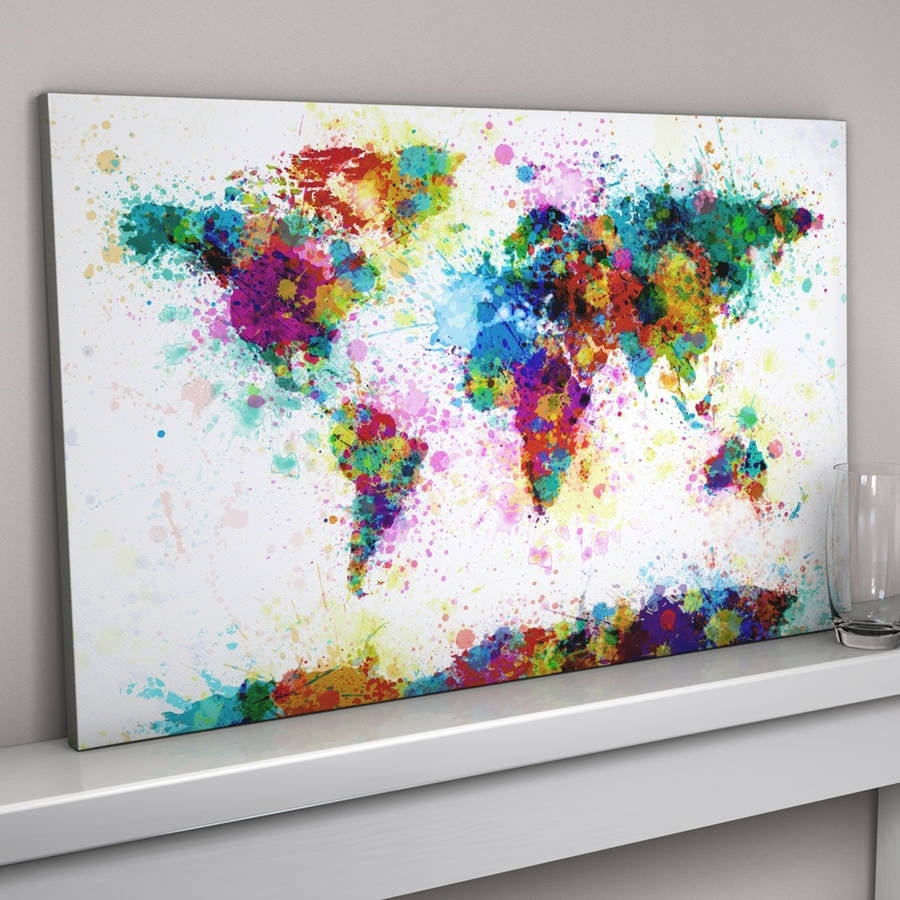 Home Decor: Alluring Canvas Artwork Combine With Paint Splashes With 2018 Brisbane Abstract Wall Art (Gallery 9 of 20)