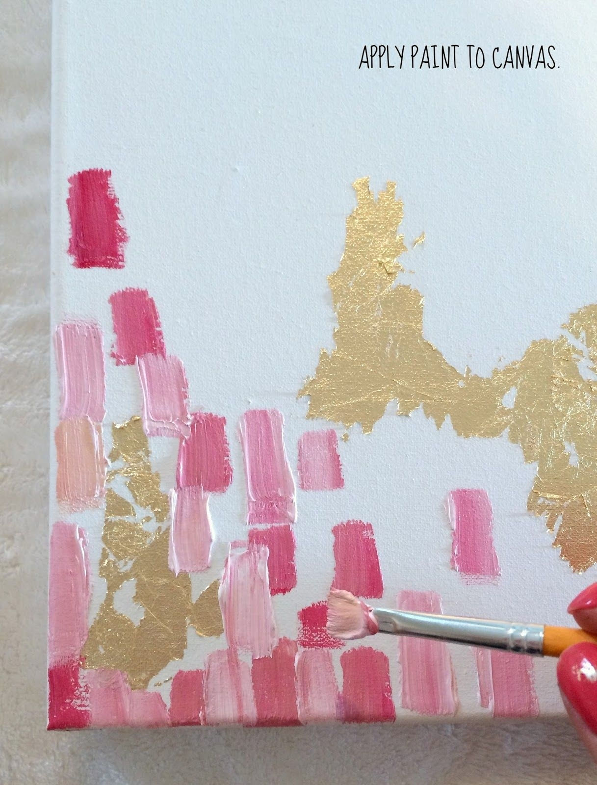 How To Make Diy Gold Leaf Abstract Art (View 9 of 20)