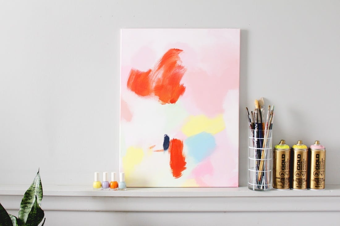 How To Make This $3600 Anthropologie Acrylic Wall Art For Next To regarding Newest Diy Abstract Wall Art