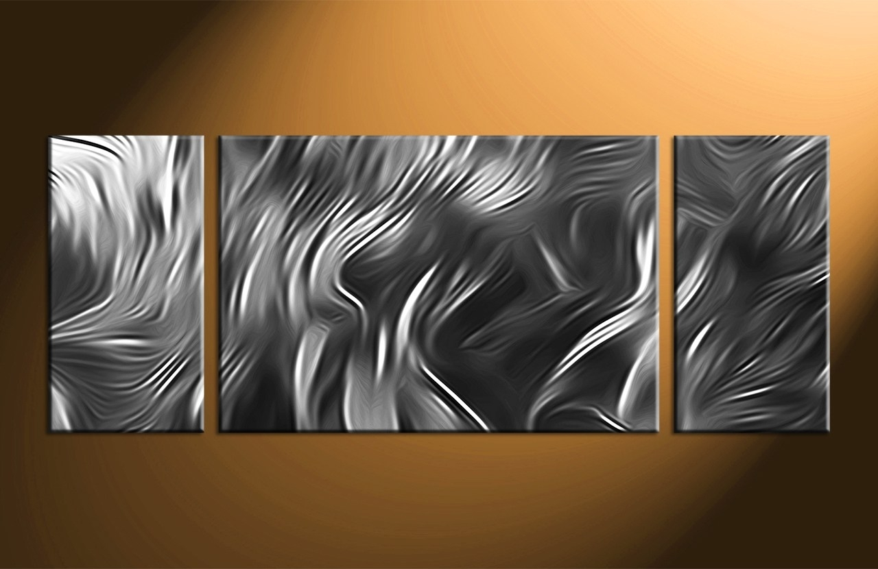 Howling Metal Wall Art Sculpture Abstract Painting Decor Linda With Most Up To Date Acrylic Abstract Wall Art (Gallery 20 of 20)