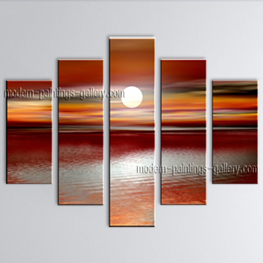 Featured Photo of Modern Abstract Huge Oil Painting Wall Art