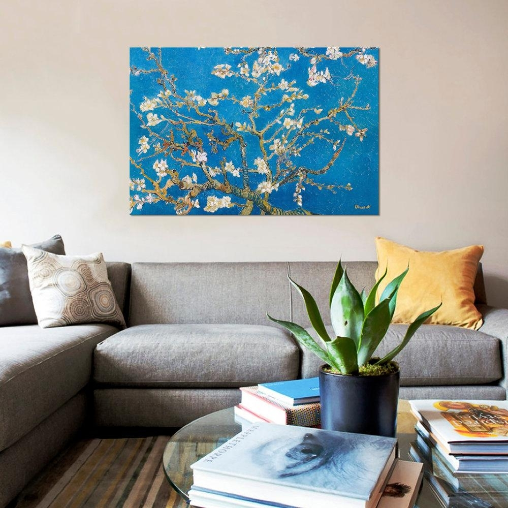 "Icanvas 40 In. X 26 In. ""almond Blossom""vincent Van Gogh Intended For Most Recently Released Almond Blossoms Vincent Van Gogh Wall Art (Gallery 13 of 20)"