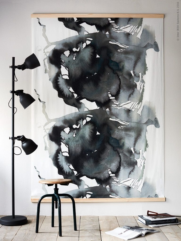 Ikea Livet Hemma   Ikea   Pinterest   White Picture, Inspiration For 2017 Abstract Fabric Wall Art (View 18 of 20)