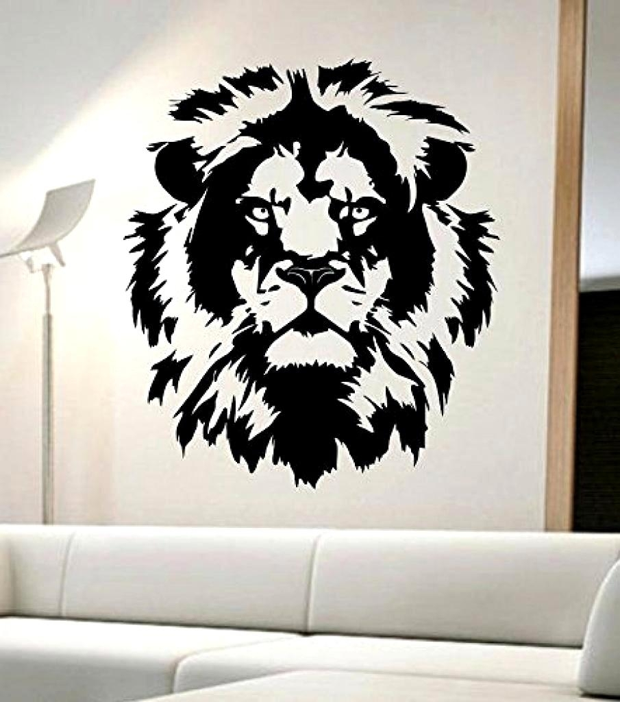 Incredible Design Ideas Lion Wall Decor Or Breathtaking Awesome With Regard  To Current Abstract Lion Wall