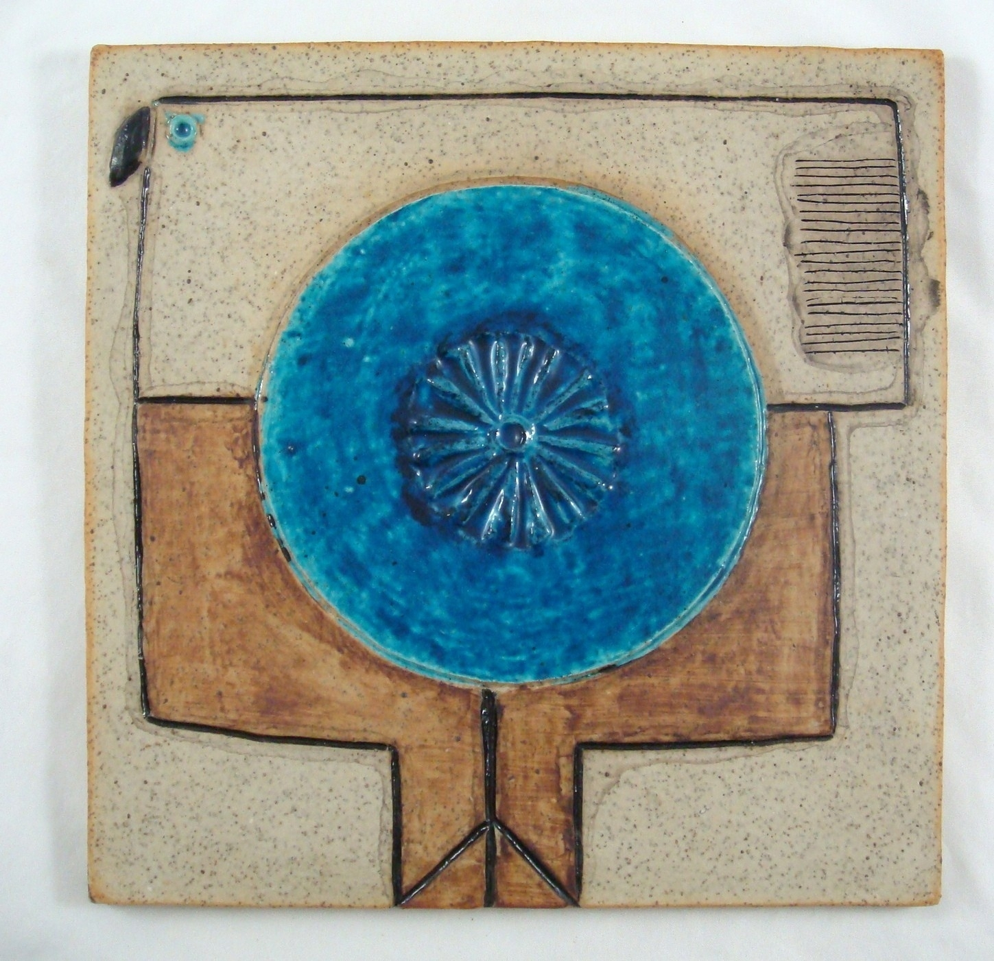 Inger Persson Rörstrand Atelje Sweden Abstract Mid Century Tile In 2017 Abstract Ceramic Wall Art (View 11 of 20)