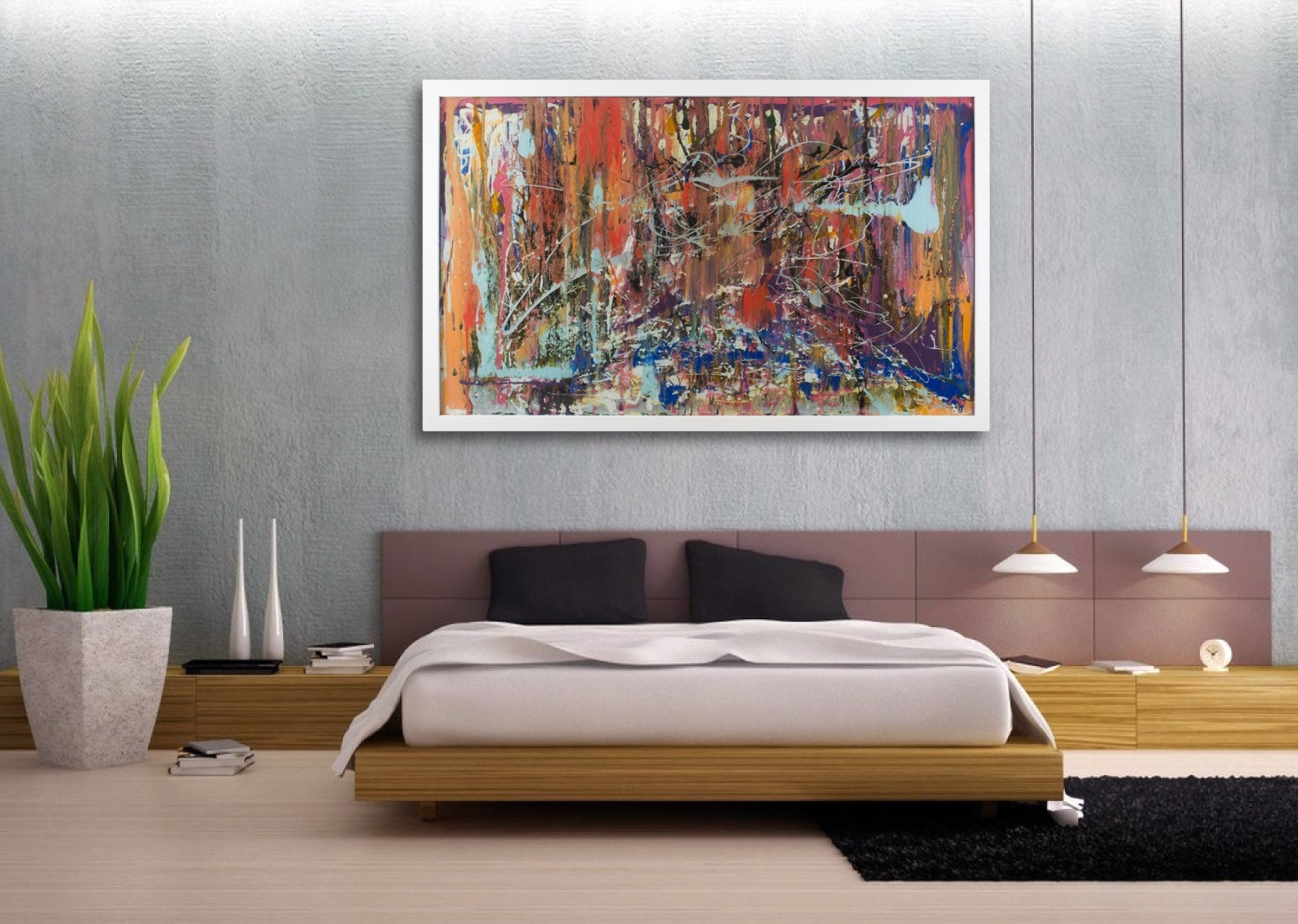 Innovative Way Modern Wall Decor Room — Joanne Russo Homesjoanne Within Newest Large Framed Abstract Wall Art (Gallery 5 of 20)