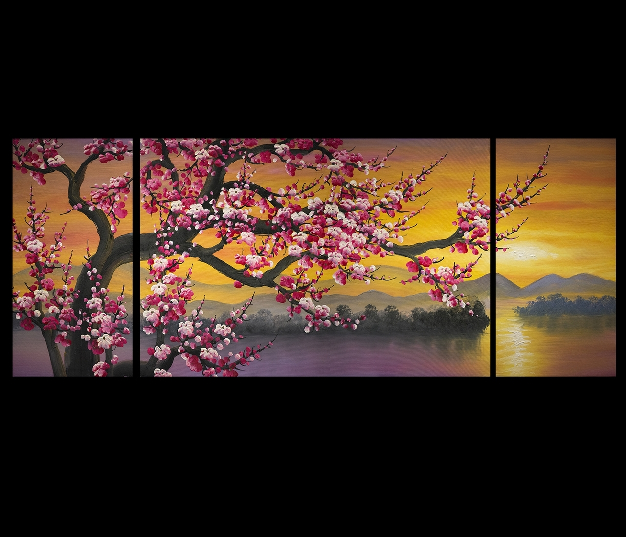 Japanese Cherry Blossom Tree Painting – Google Search | Art Pertaining To 2017 Cherry Blossom Oil Painting Modern Abstract Wall Art (View 16 of 20)