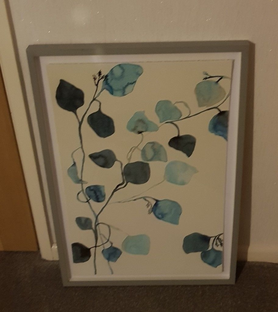 John Lewis Modern Art Blue Abstract Print Susan Hable Framed Print With 2017 John Lewis Abstract Wall Art (Gallery 11 of 20)