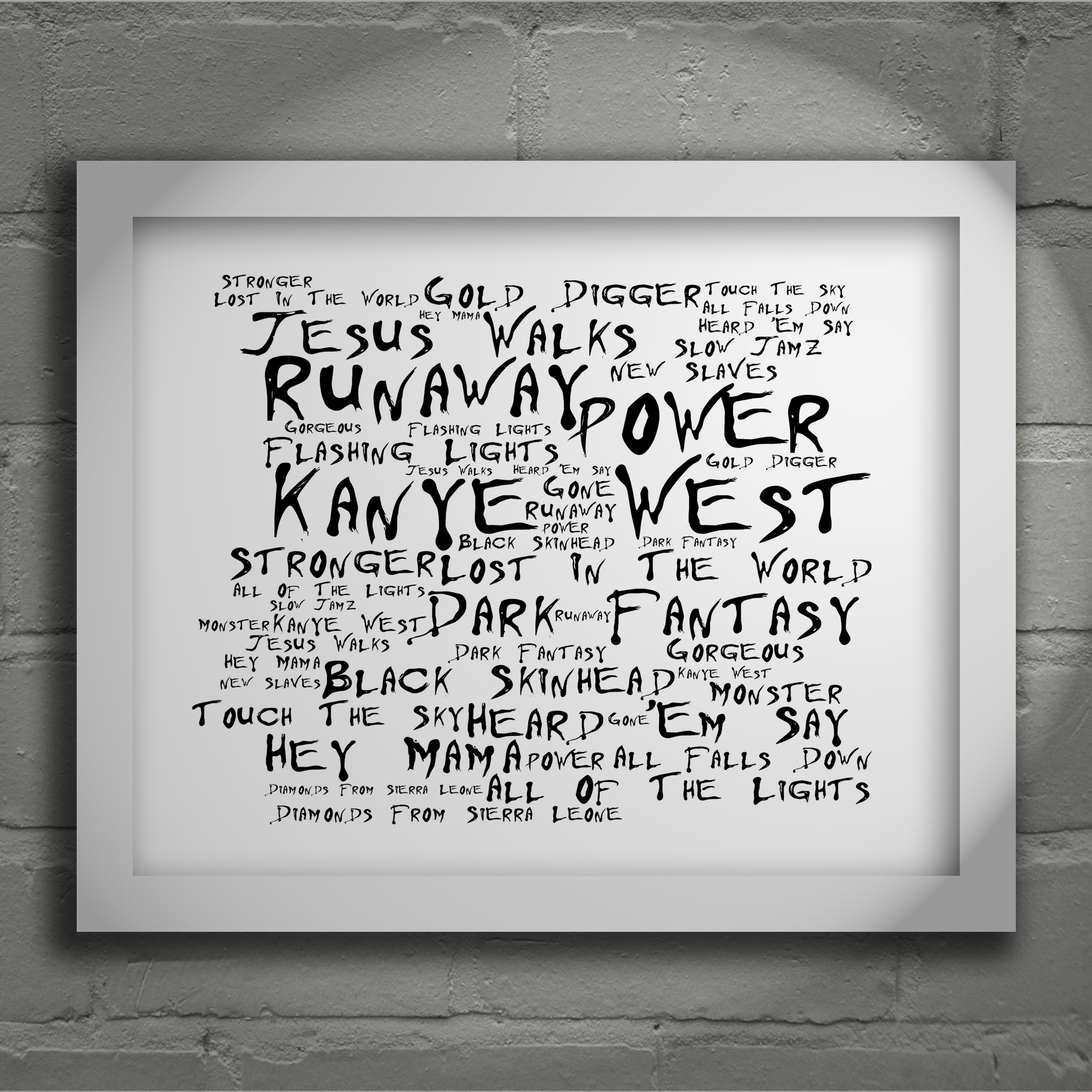 Kanye West My Beautiful Dark Twisted Fantasy Limited Edition For Most Current Limited Edition Wall Art (View 7 of 20)
