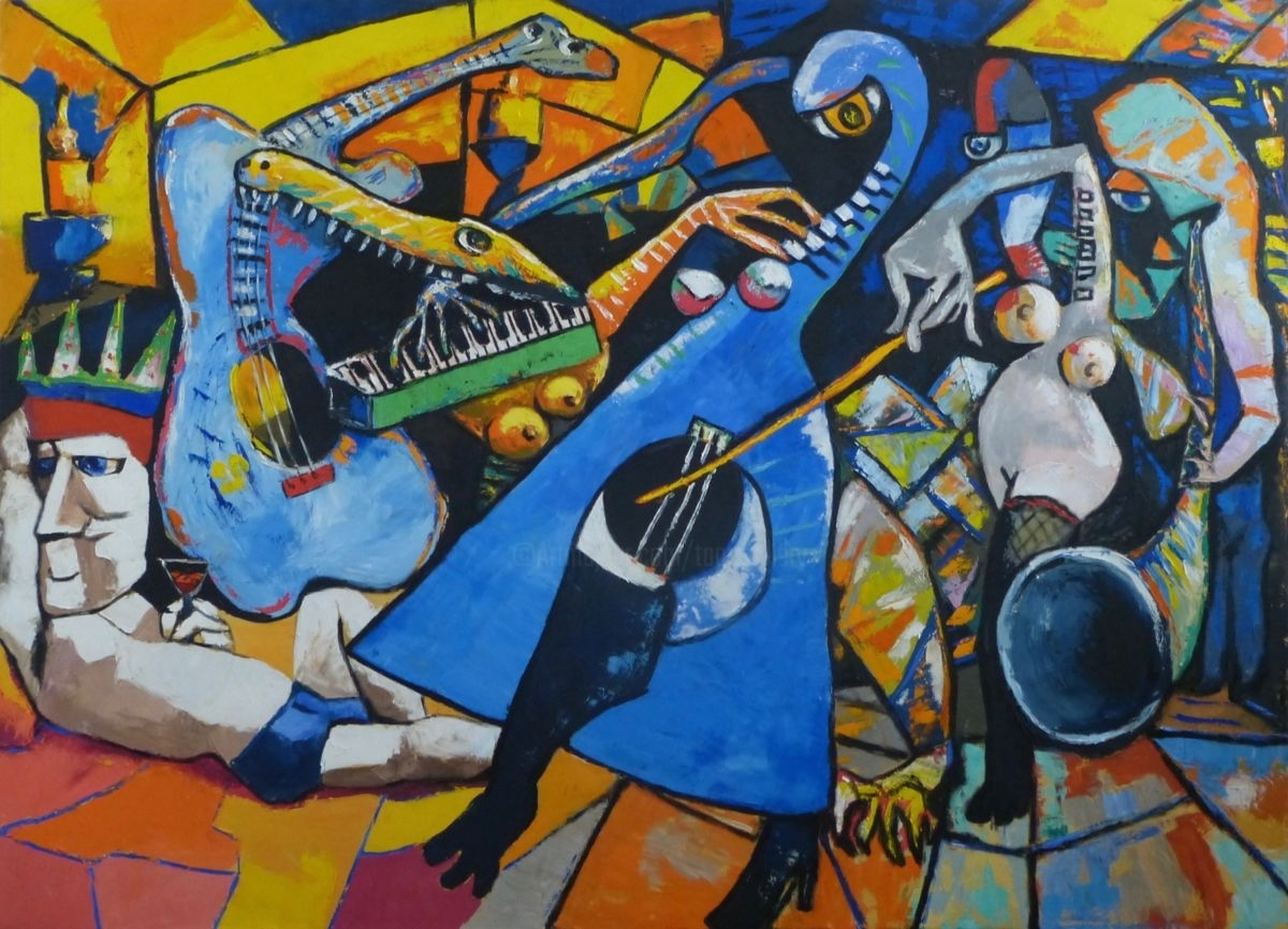 King Of Jazz And His Band (Ta) inside Best and Newest Abstract Musical Notes Piano Jazz Wall Artwork