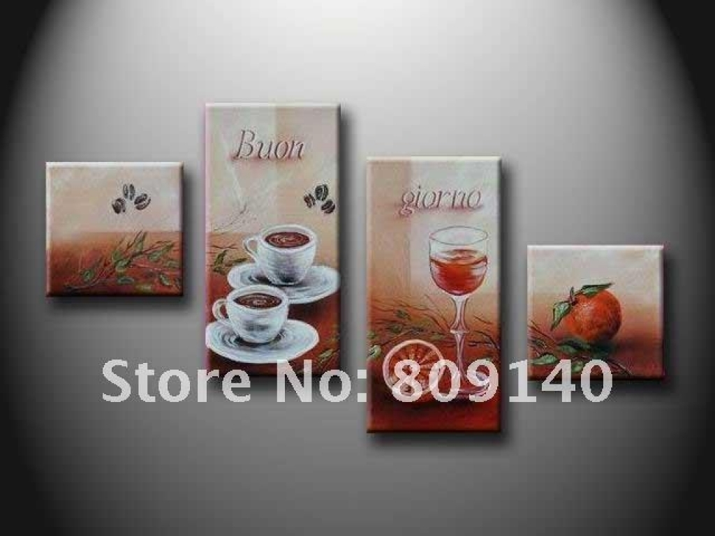 Kitchen Canvas Wall Decor Kitchen Dining Room Oil Painting Canvas Pertaining To 2018 Abstract Kitchen Wall Art (View 3 of 20)