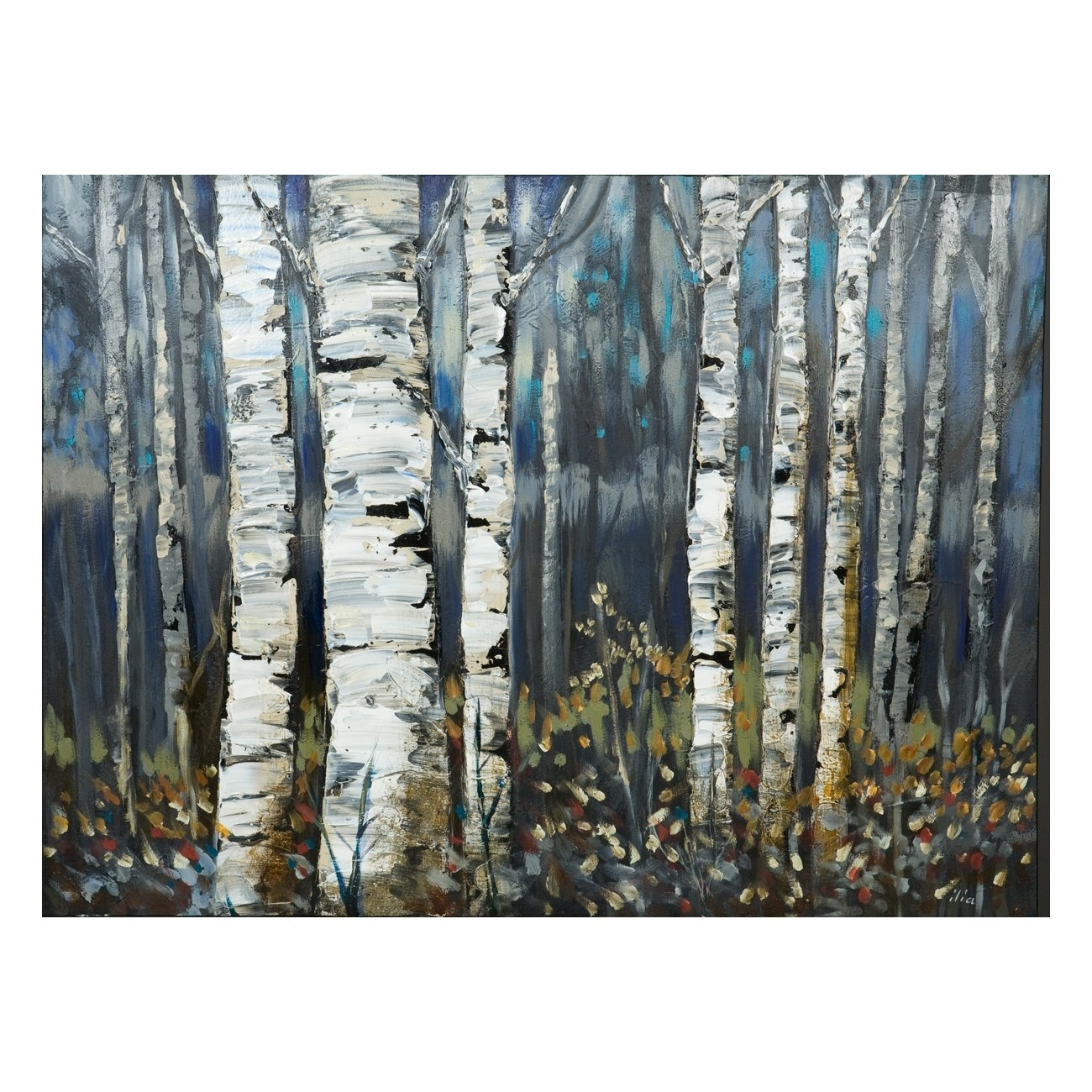 Laila's Ili142 11F Birch Trees Canvas Art | Lowe's Canada With Most Recent Abstract Wall Art Canada (View 6 of 20)