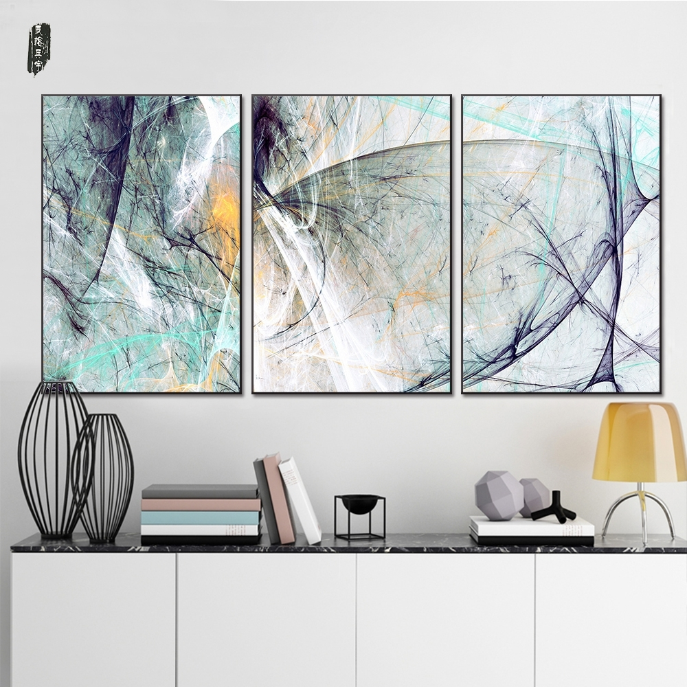 Landscape Abstract Canvas Paintings Modern Wall Art Poster And Intended For Most Popular Abstract Wall Art Posters (View 14 of 20)