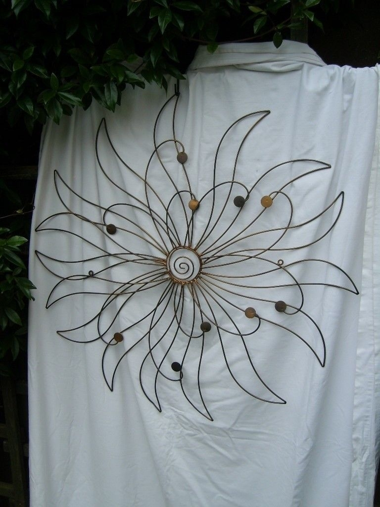 Large Abstract Flower Metal Wall Art | In Wimbledon, London | Gumtree Within Most Recent Abstract Flower Metal Wall Art (View 11 of 20)